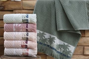 Cotton Elite Palmiye Saçaklı Havlu