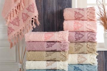 Cotton Elite Damask Saçaklı Havlu