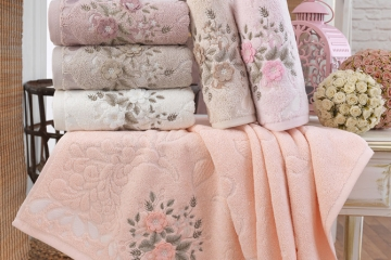 Cotton Elite Damla Serisi Flora Havlu